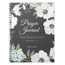 Watercolor Anemones Scripture Prayer Journal