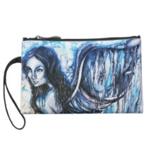 Watercolor Angel Art Clutch Bag