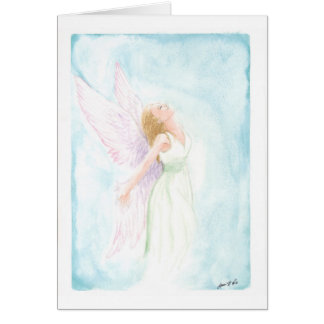 Watercolor Angel or Fairy (Blank Inside) Stationery Note Card