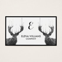 Watercolor Animal Deer Business Card
