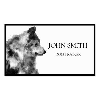 Watercolor Animals Dog Business Card