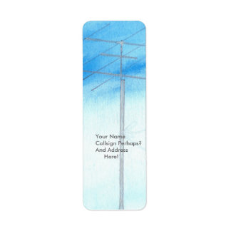 Watercolor Antenna Vertical Address Labels