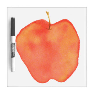 Watercolor Apple Dry-Erase Whiteboards