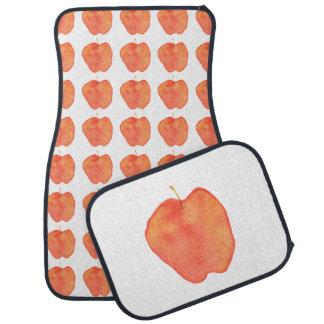 Watercolor Apple Floor Mat