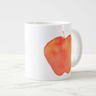 Watercolor Apple Large Coffee Mug