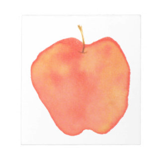 Watercolor Apple Notepad