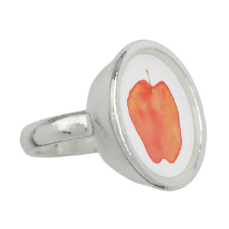 Watercolor Apple Photo Ring