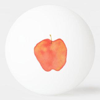 Watercolor Apple Ping-Pong Ball