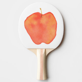 Watercolor Apple Ping-Pong Paddle