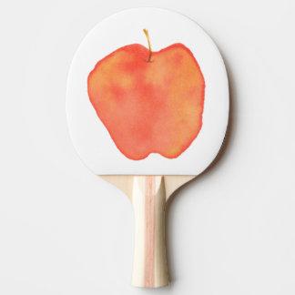 Watercolor Apple Ping-Pong Paddle