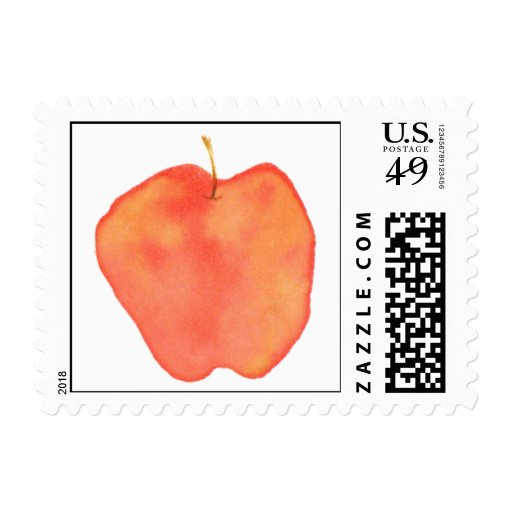 Watercolor Apple Postage