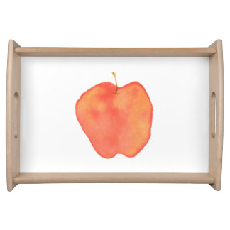 Watercolor Apple Serving Tray