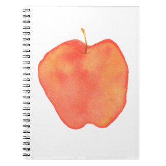 Watercolor Apple Spiral Notebook