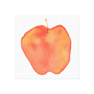 Watercolor Apple Stretched Canvas Prints