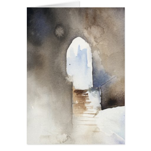 Watercolor Archway Rome Greeting Card