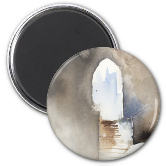 Watercolor Archway Rome Magnet
