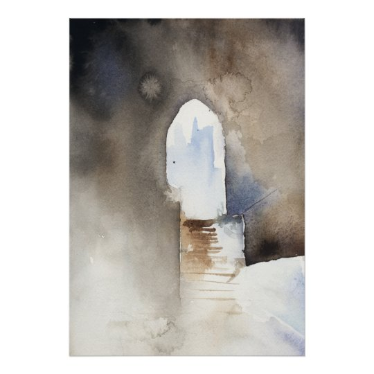 Watercolor Archway Rome Poster