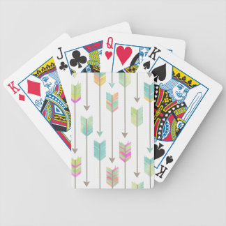 Watercolor Arrows Pattern Bicycle Playing Cards