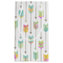 Watercolor Arrows Pattern Small Gift Bag