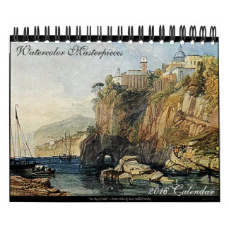 Watercolor Art 2016 Beautiful Office Desk Calendar