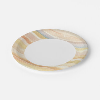 Watercolor art background, texture paper plate