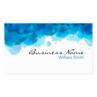 Watercolor art business card