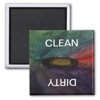 Watercolor Art Clean Dirty Dishwasher Magnet