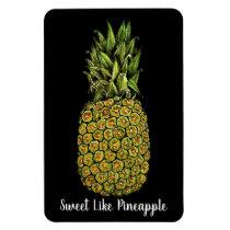 Watercolor Art Cute Pineapple Magnet