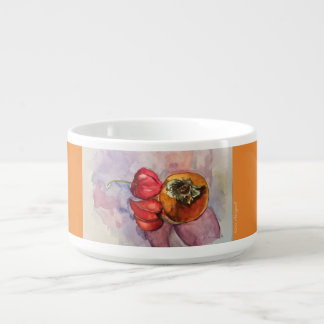 Watercolor Art Fruit Chili Bowl