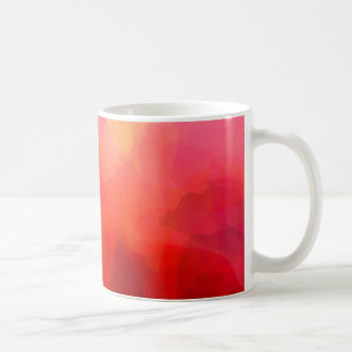 Watercolor Art in Reds, Orange and Yellow Coffee Mug