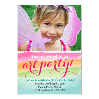Watercolor Art Painting Party Invitation