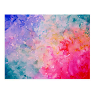 Watercolor Art Print Abstract Universe Postcard