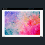 "Watercolor Art Print Abstract Universe Skins For Laptops<br><div class=""desc"">Watercolor Art Print Abstract Universe,  blue pink and purple</div>"