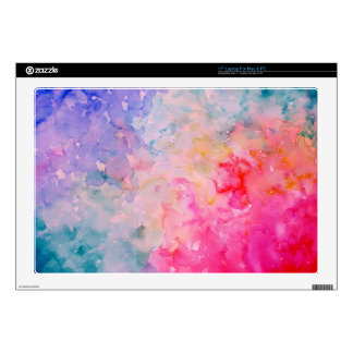 Watercolor Art Print Abstract Universe Skins For Laptops