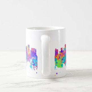 Watercolor art print of the skyline of Seattle USA Mug