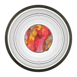 Watercolor art red yellow pet bowl