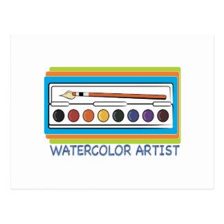 Watercolor Artist Postcard