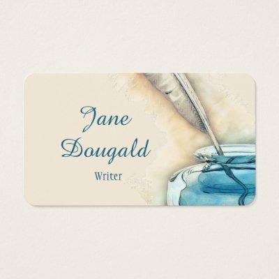 Writer journalist author reporter novelist business card zazzle colourmoves Images