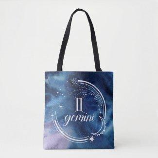 Watercolor Astrology - Gemini Tote Bag