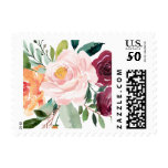 Watercolor Autumn Blooms Floral Postage<br><div class='desc'>Whimsical floral featuring watercolor flowers in fall colors. This stamp will be a perfect accent for your cards and stationeries. Matching items are available.</div>