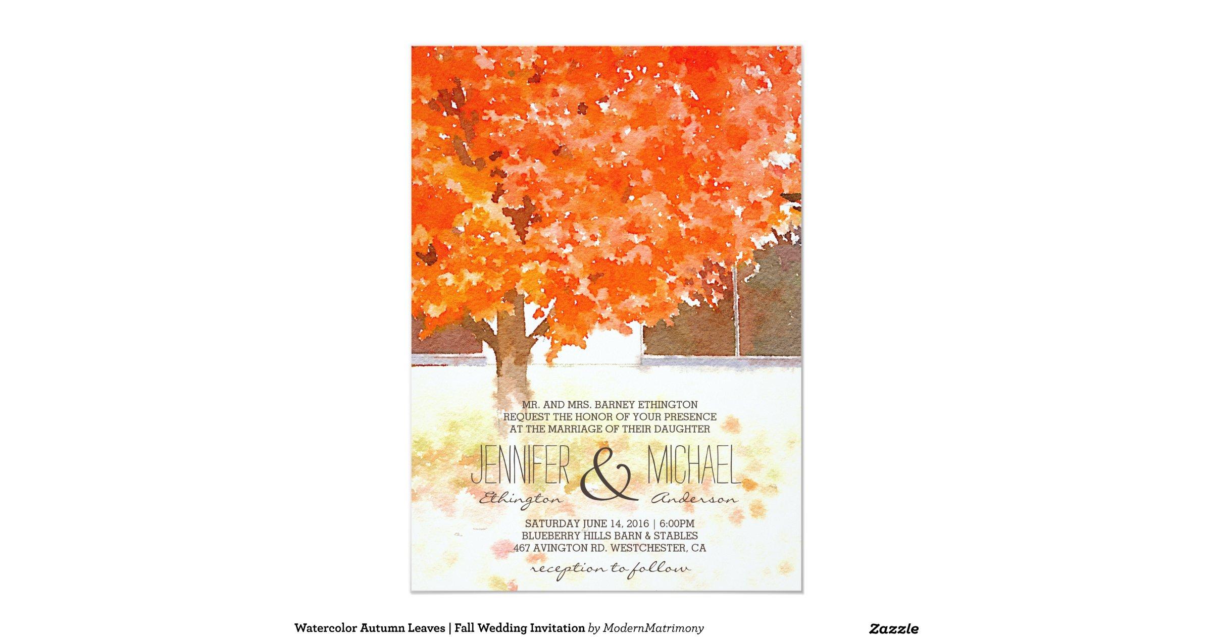 Watercolor Autumn Leaves Fall Wedding Invitation R542cbf8bf8e54ca09bd98dc917ce43f8 Zkrqs 1200