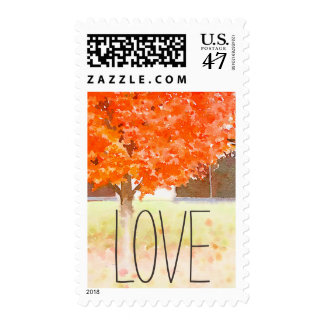 Watercolor Autumn Leaves | Fall Wedding Postage
