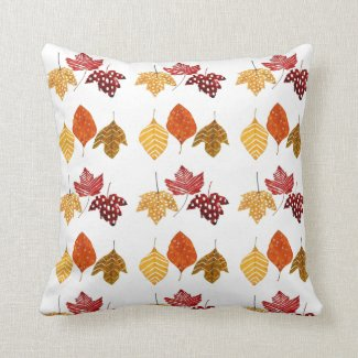 Watercolor Autumn Leaves Throw Pillow Home Decor