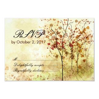Watercolor Autumn Wedding RSVP Response Card