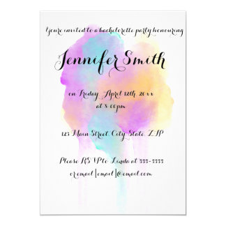Watercolor Bachelorette Party Invitations