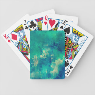 Watercolor backdrop artistic design bicycle playing cards