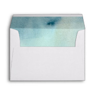watercolor background in pastel blue and yellow envelope