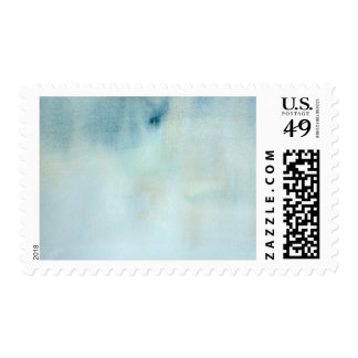 watercolor background in pastel blue and yellow postage