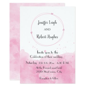 Wedding Themed Watercolor background Romantic wedding Card