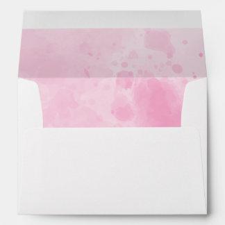Watercolor background Romantic wedding in pink Envelope